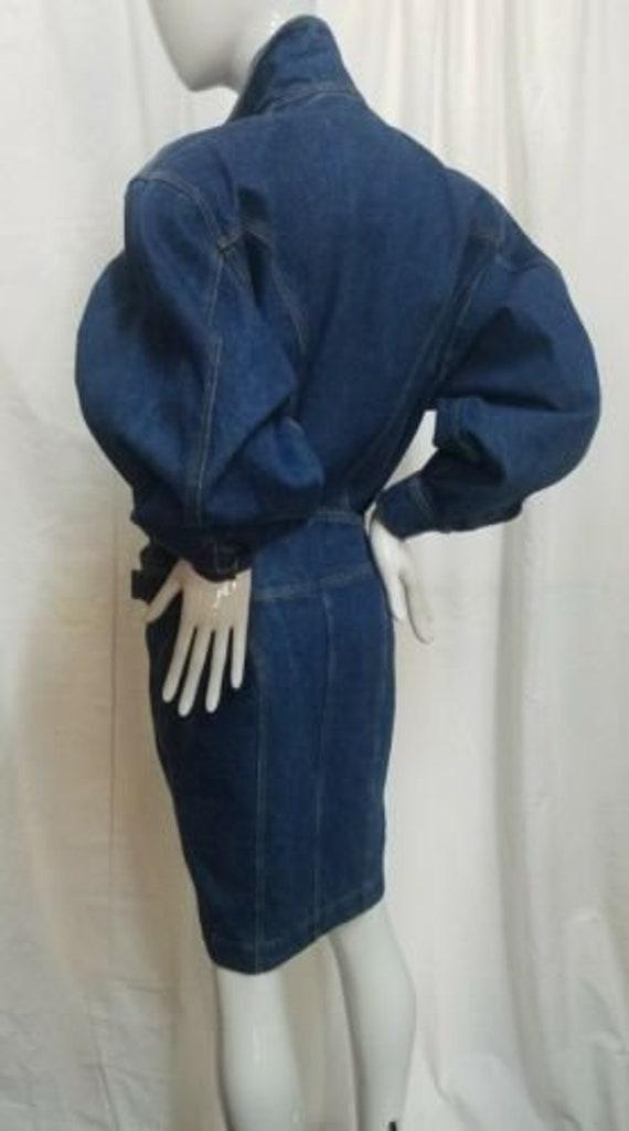Azzedine ALAIA 1980's denim zipper dress - image 3
