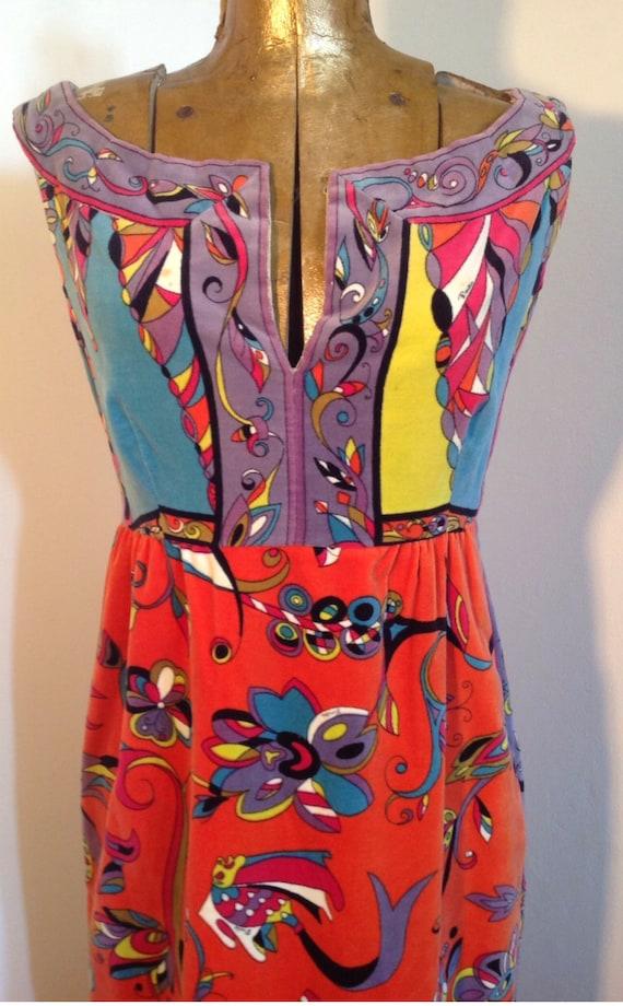 EMILIO PUCCI 1960's velvet intricate pattern mult… - image 2