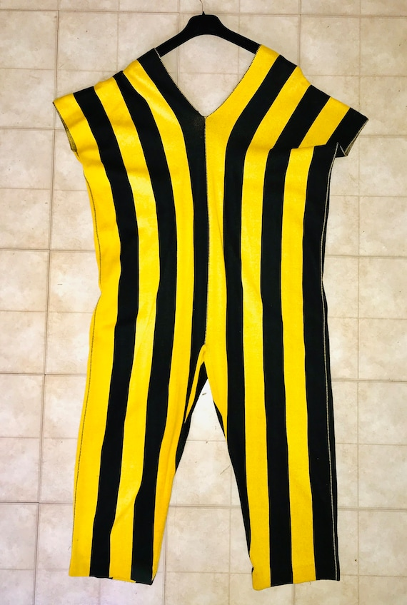 ISSEY MIYAKE 1980s black and yellow bold stripe ju