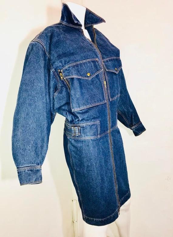 Azzedine ALAIA 1980's denim zipper dress - image 1