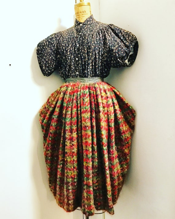 BONNIE CASHIN 1960s wool mohair and leather link … - image 3