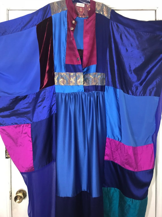Thea Porter couture 1979s silk patchwork  vintage