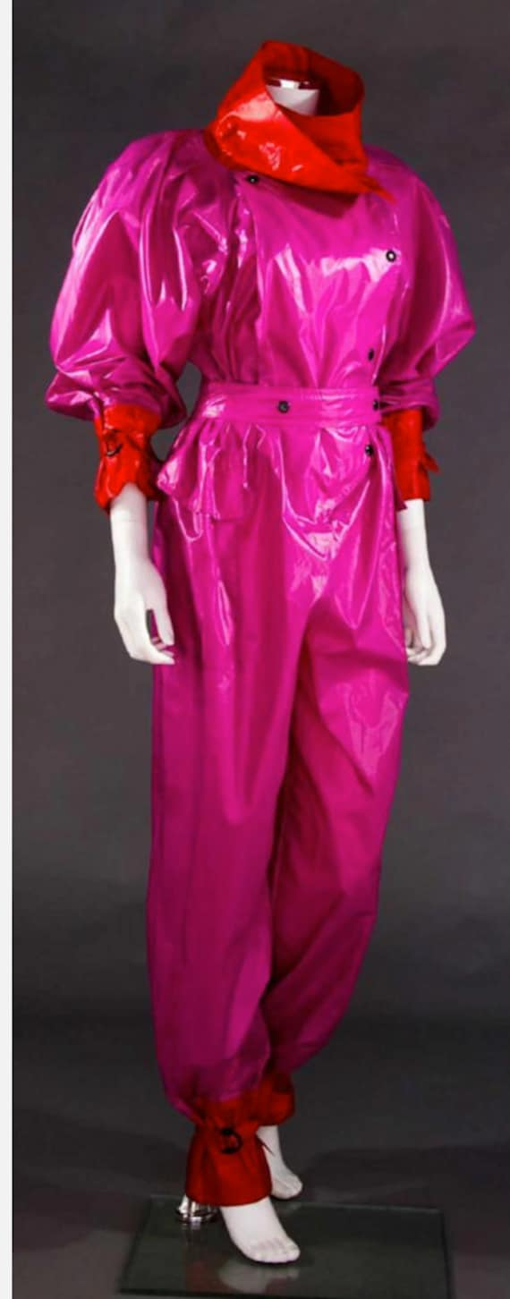 Issey Miyake 1980's hot pink jumpsuit