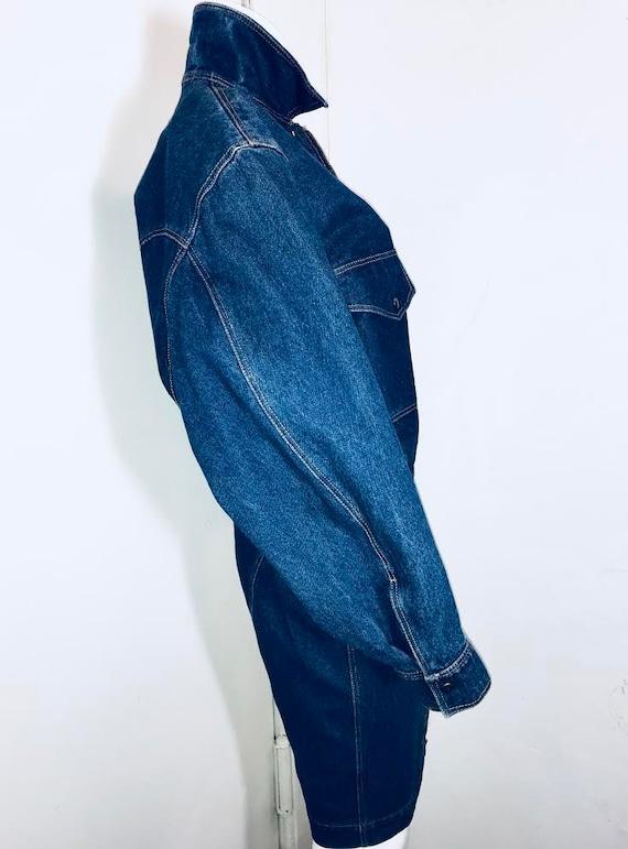Azzedine ALAIA 1980's denim zipper dress - image 5