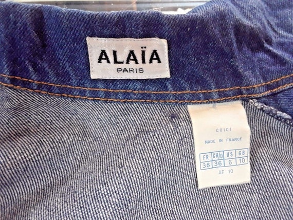 Azzedine ALAIA 1980's denim zipper dress - image 7