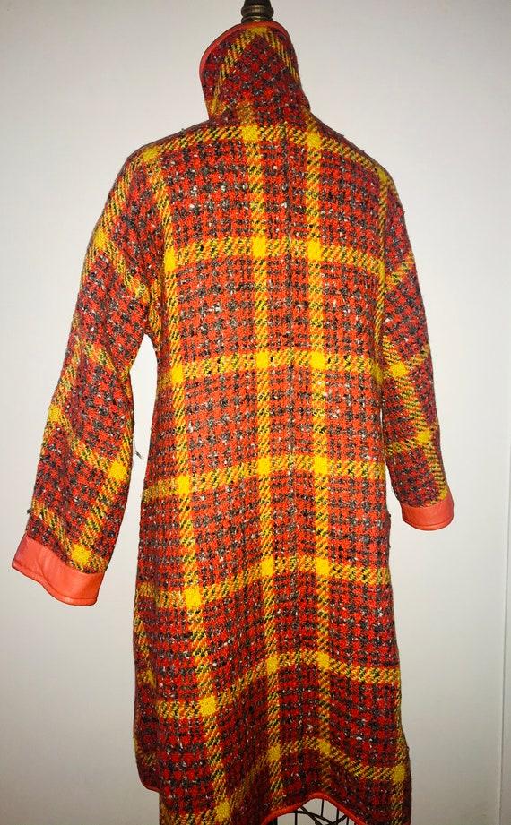 BONNIE CASHIN SILLS 1960s tweed leather swing coa… - image 4