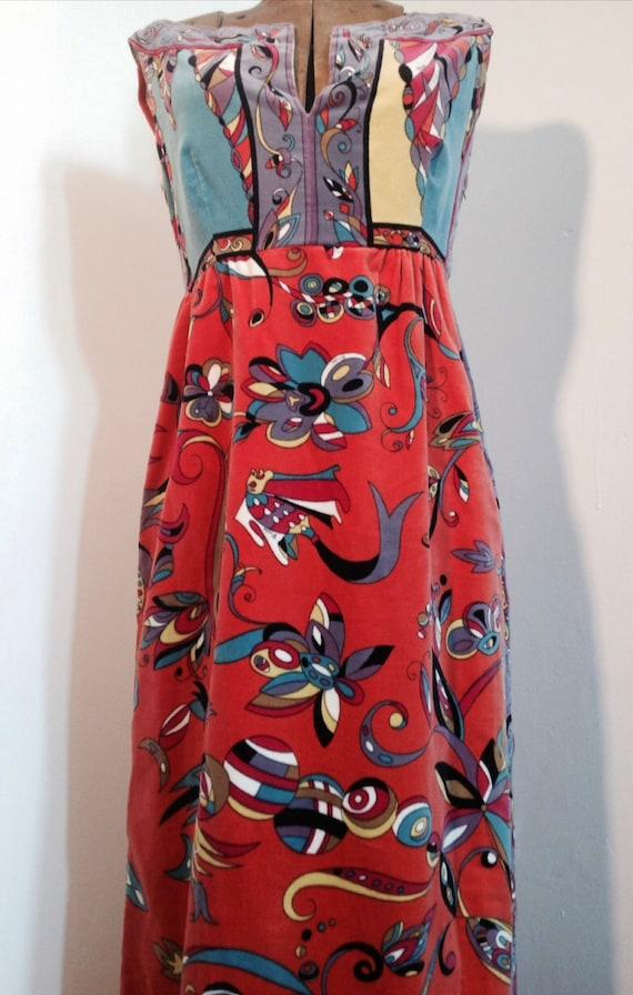 EMILIO PUCCI 1960's velvet intricate pattern mult… - image 3