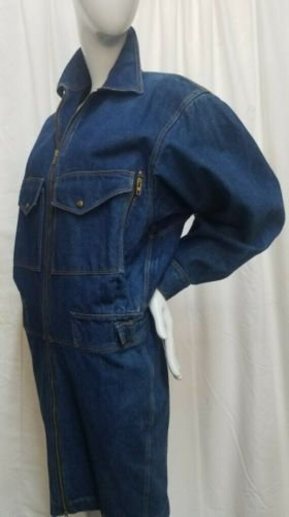 Azzedine ALAIA 1980's denim zipper dress - image 2