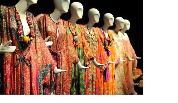 Thea Porter couture fine silk floral print weddin… - image 9