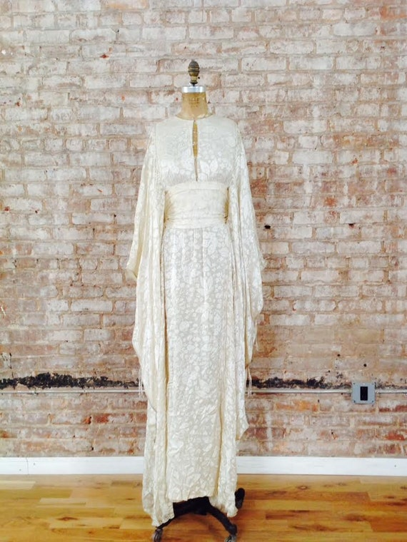 Thea Porter couture fine silk floral print weddin… - image 2