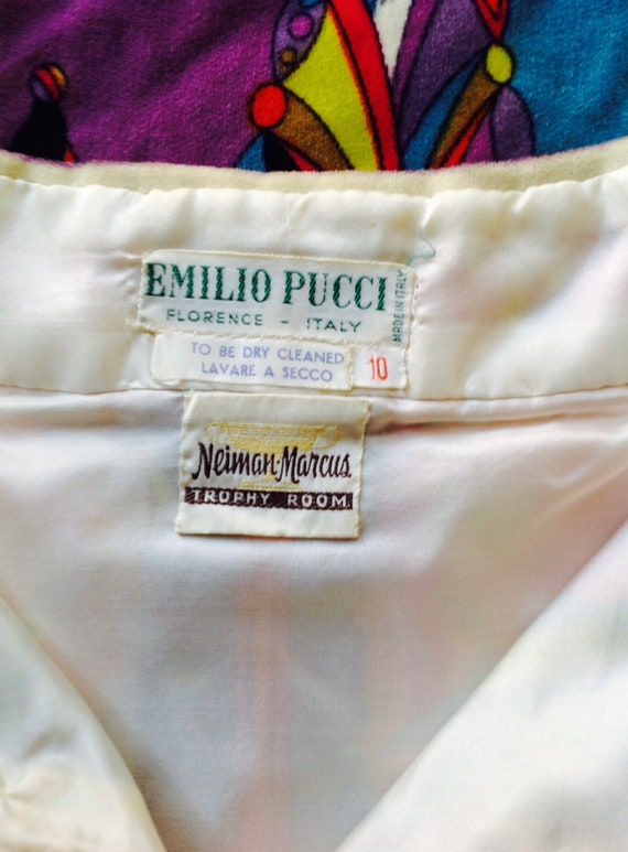 EMILIO PUCCI 1960's velvet intricate pattern mult… - image 5