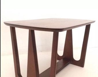 Mid Century Modern Eames END Side Table Walnut Broyhill Brasilia Eames  Danish