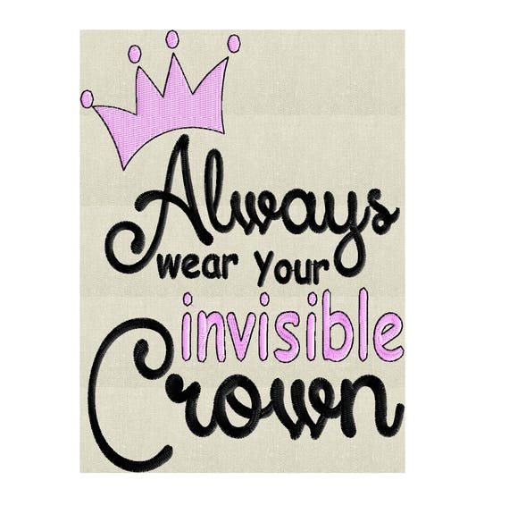 Lleve siempre su invisible corona citar archivo de diseño de | Etsy