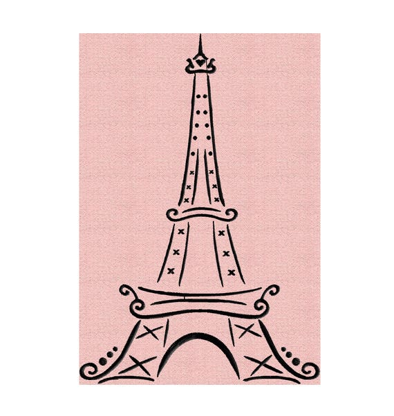 Eiffel Tower Paris Embroidery Design Embroidery Design File Etsy