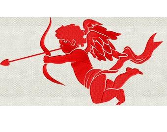 Cupid Arrow Heart Cherub Angel Design  - EMBROIDERY DESIGN FILE - Instant download - Dst Hus Jef Pes Exp Vp3 formats