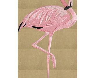 Flamingo - Embroidery DESIGN FILE Instant download Hus Dst Exp Jef Pes Vp3 - 2 sizes