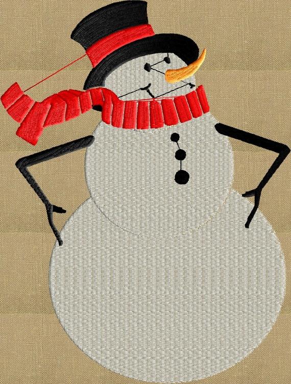 Frosty el muñeco de nieve retro lindo bordado diseño de | Etsy