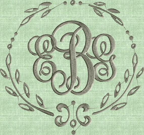 Charming Font Frame Monogram Embroidery Design Font Not Etsy