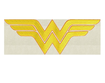 Wonder Woman Embroidery Design - EMBROIDERY Design FILE - Instant download - 2 sizes - Dst Hus Jef Pes Vp3 Exp formats