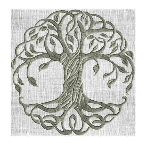 Diseño del bordado de árbol de la vida no incluido-bordado   Etsy