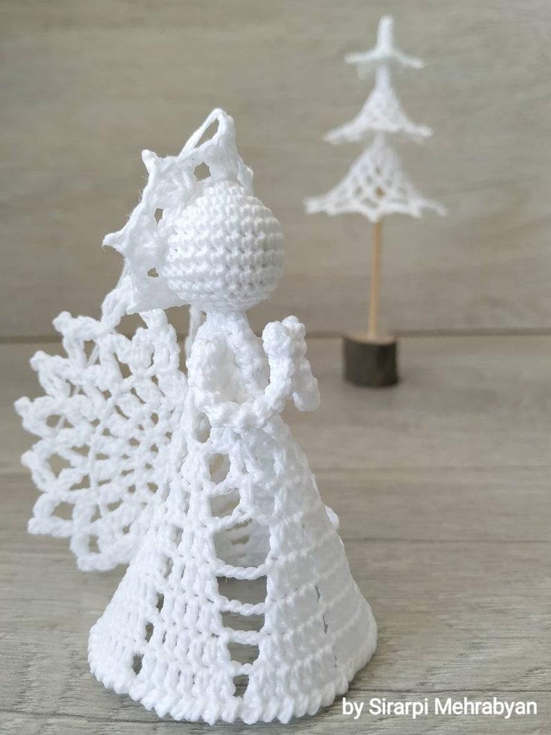 Crochet Angel Baptism Gift Christmas Lace Angel Ornament Tree Etsy
