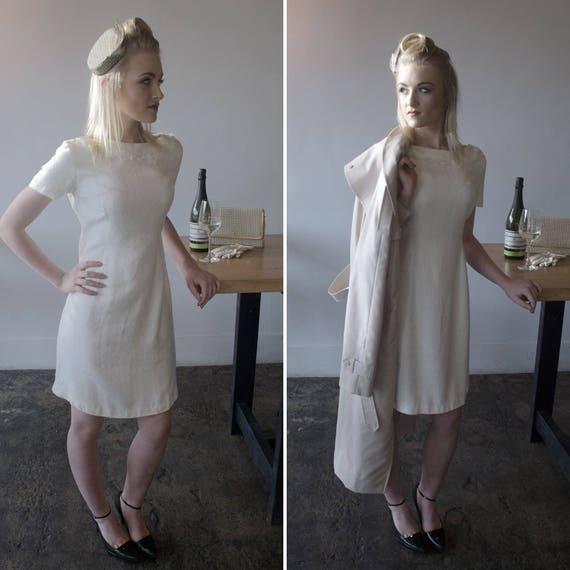 Vintage Dress / White / 1950s