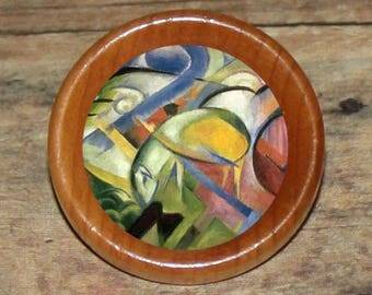 Franz Marc LAMB Pendant or Brooch or Ring or Earrings or Tie Tack or Cuff Links