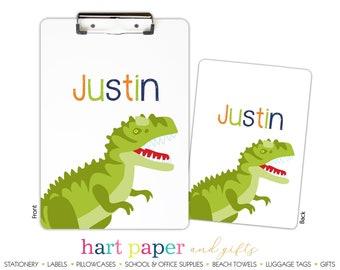 Dinosaur Dino Jurassic T Rex T-Rex • Clipboard Name Custom Back to School Supplies Homework Office Teacher Gift Birthday Personalized