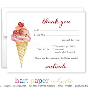 Galaxy Planets Outer Space Solar System Thank You Cards \u2022 Folded Flat Note Stationery Personalized Custom Printed Notecard \u2022 Birthday