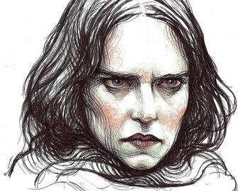 Original sketch of Eva Green