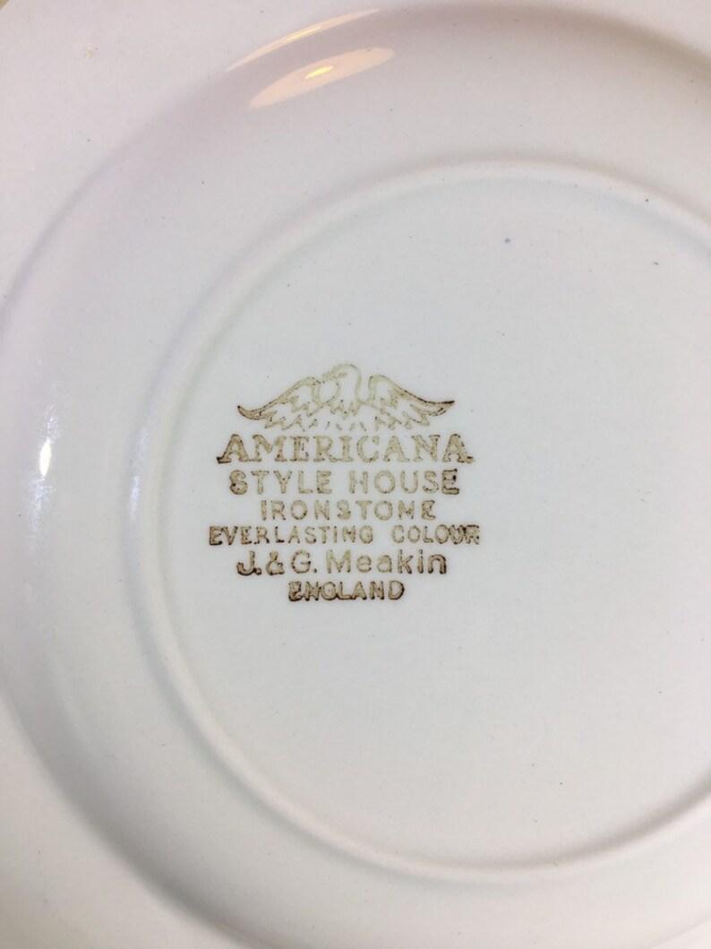 Vintage Americana Brown by J and G Meakin Dessert Pie Plate