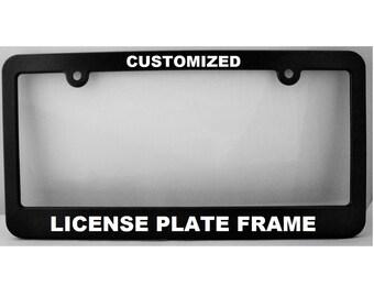 Old School Funny License Plate Frame Tag Holder