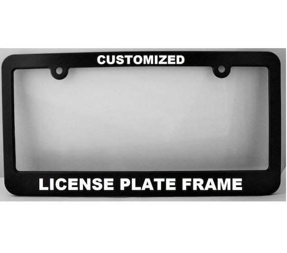 Custom License Plate Frame: New York Style License   Etsy