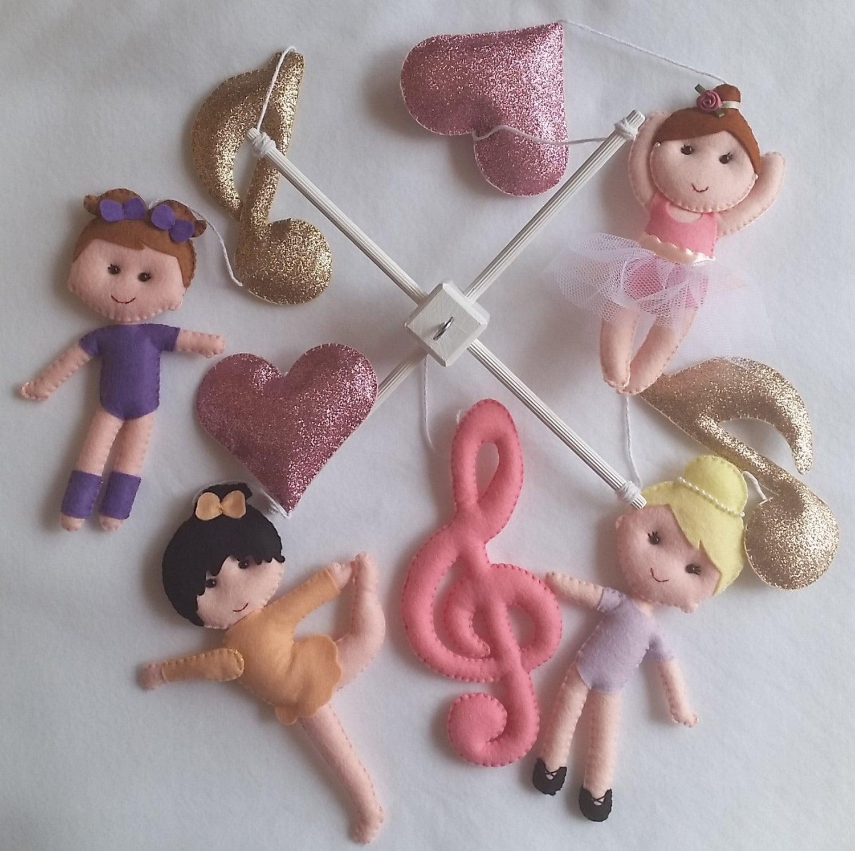 Dancing Babies Cute: Baby Cot Mobile Cute Dancing Ballerinas Dolls Mobile Pink