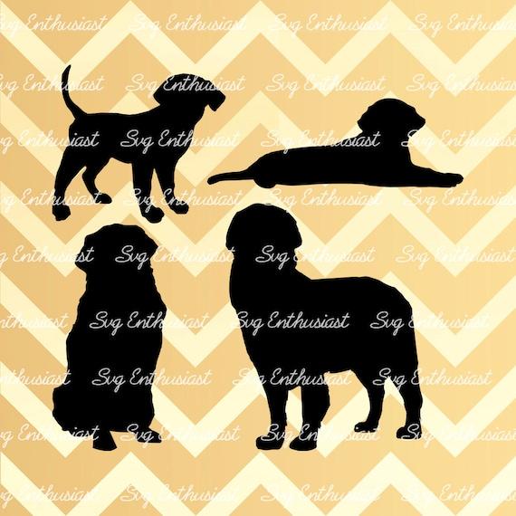 Golden Retriever Silhouette Svg Dog Svg Puppy Svg Golden Etsy