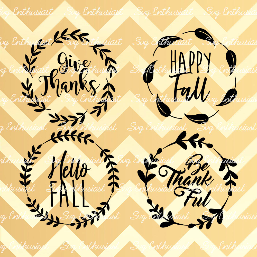 Fall Leaves Frames Svg Fall Sayings Svg Happy Fall Svg Etsy