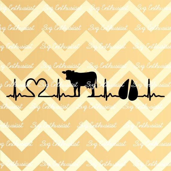Cow Svg Cow Heartbeat Svg Cow Footprint Svg Cow Heart Svg Etsy