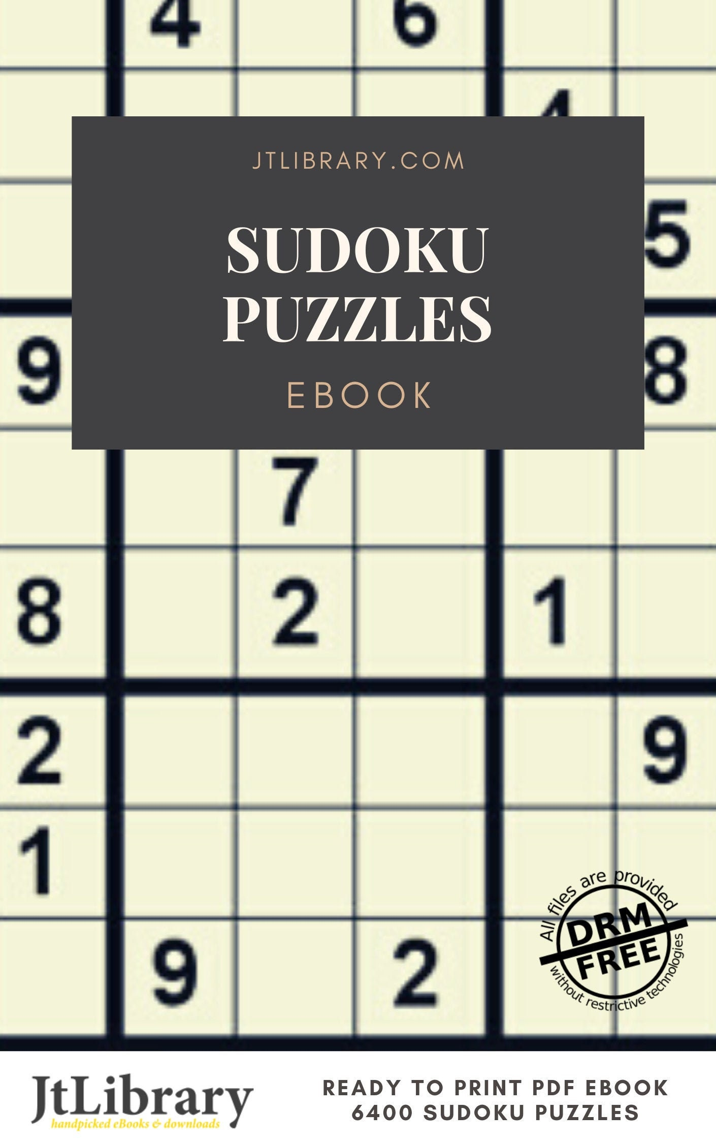 Printable Sudoku Puzzles Ebook With Answers Instant Download Etsy