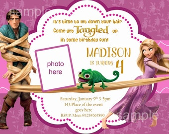 Rapunzel invitation rapunzel birthday invitation rapunzel etsy rapunzel birthday invitation digital you print filmwisefo