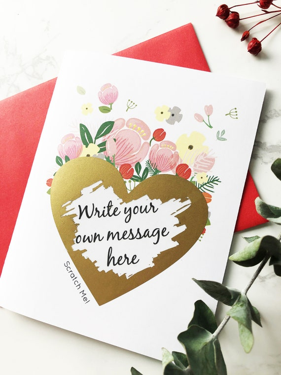Scratch Off Custom Card Personalized Greeting Cards