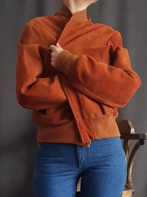 Rusty suede vintage bombers jacket