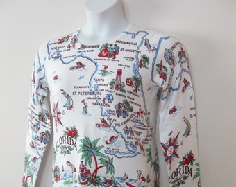 Misses S Rayon Blend Light Weight Sweater Souvenir Sweater from the State of Florida SEE Details