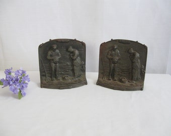 Cast Iron Bookends Etsy