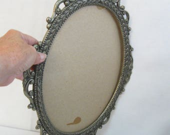 Vintage Large Size Ornate Metal Frame No Glass Use For Picture or Mirror Heavy Weight Ornate Frame SEE Details