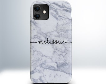 Custom Personalised Marble Clear Case for iPhone 6 / 6S / 7 / 8 / Plus / X / Xs / XR / XS Max / 11 / Pro / Max. Embossed Print. Matte Finish