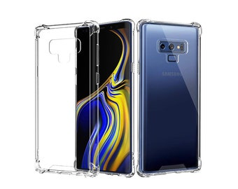 Anti-Impact Samsung Galaxy Note 9 Clear Transparent Case. Made with Protective TPU Bumper.