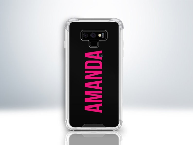 Custom Note 9 Samsung Galaxy Case  Personalise With Your Name or Initial  Embossed  Choose Any Font Colour  Personalised Galaxy Note 9 Case