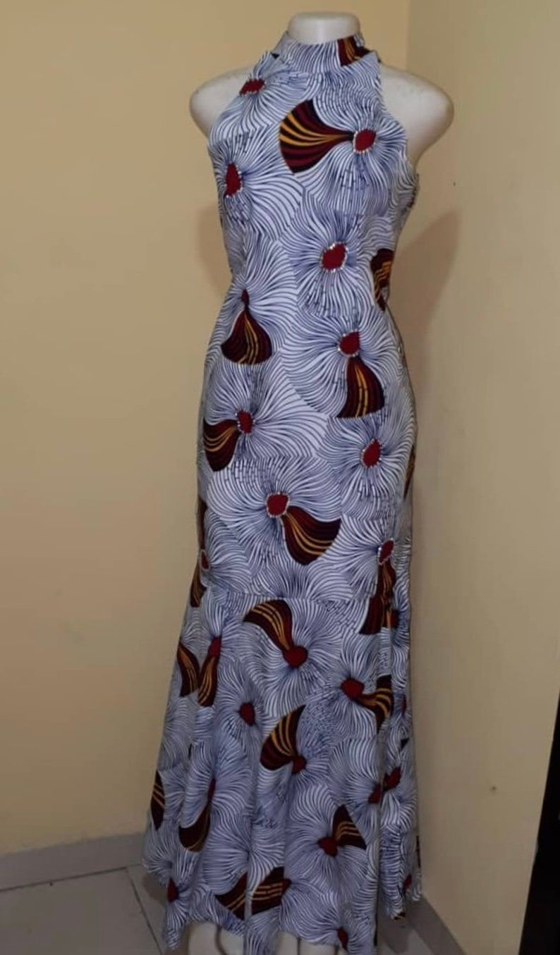 44df3b4392 FREE SHIPPING* Ankara Maxi Dress, Sexy Formal African Dress, African  Evening Dress