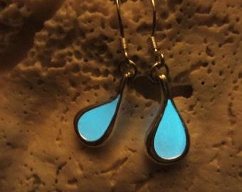 Sterling silver earrings Glow in the dark
