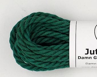 Jute Bondage Rope Emerald Green Shibari Rope Mature 6mm
